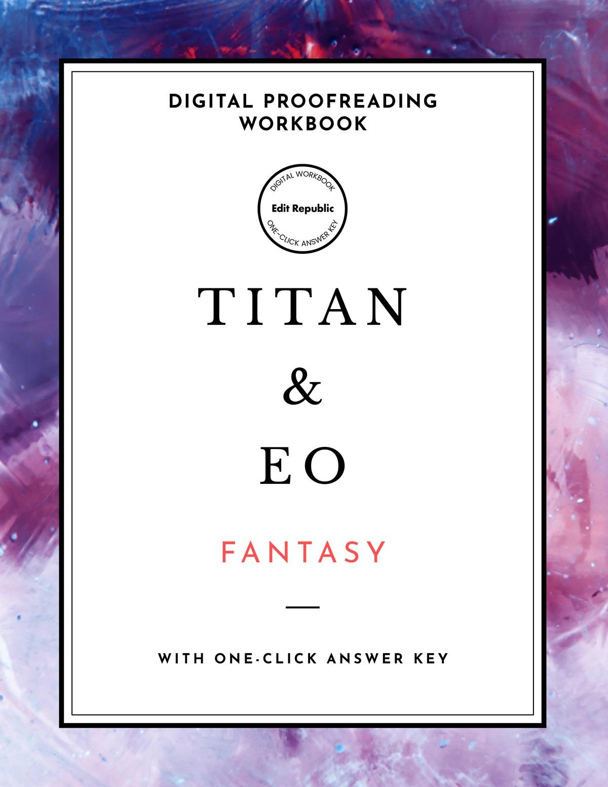Fantasy Proofreading Workbook