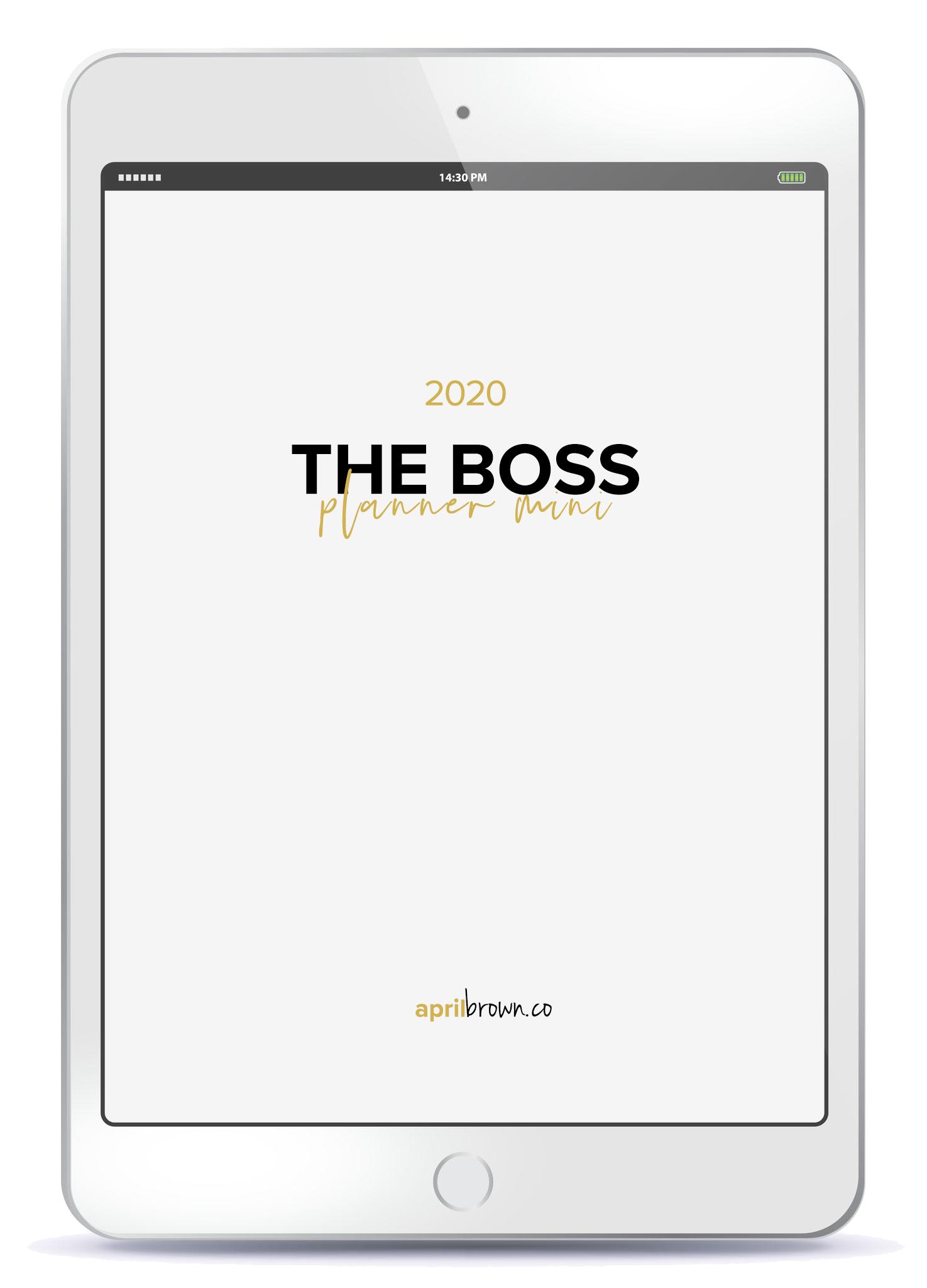 The Boss Planner Mini Digital Business Planner